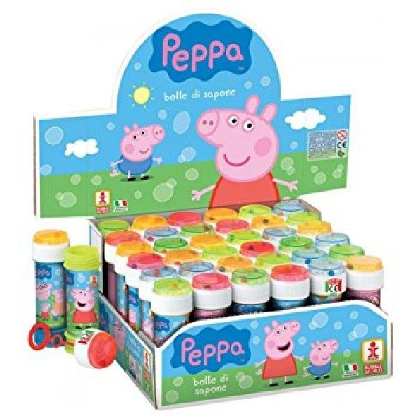 2 tubes Pepper pig bubbles