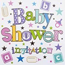 6 pack baby shower invitations