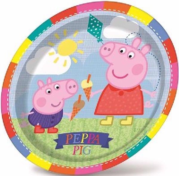 8 pack of pepper pig plates