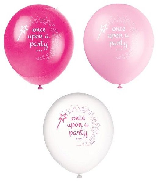 8PK 12IN PRINCESS & UNICORN BALLOONS