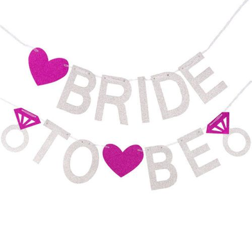 Briide to be glitter banner