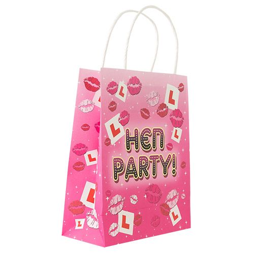 L Plate Design Hen Night Gift Bag