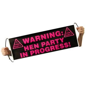 Pull out hen party banner