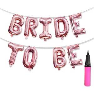 Rose Gold Bride to be  Balloon Bunting Garland Decoration - Team Bride 2.5m